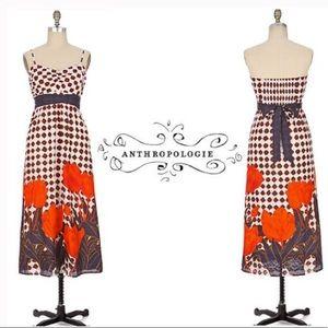 Anthropologie Maeve Tulip Print Maxi Dress Size 6